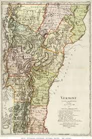 Map Of Vt Sotzman U0027s Map Of Vermont 1796