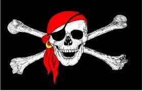 pirate skull crossbones bandana 18 x 12 45cm x 30cm sleeved