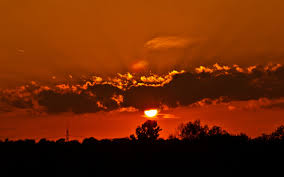 miscellaneous clouds sunrise trees nature red sky tower electrical
