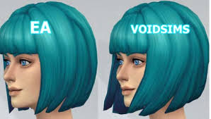 sims 4 blue hair the sims 4 short bob hairstyle edit download