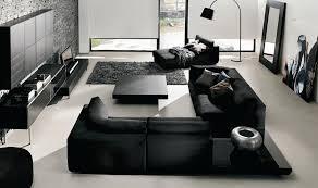 Contemporary Living Room Furniture - Black modern living room sets