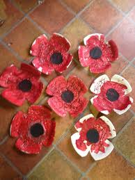 paper plate poppies remembrance have the kids paint the