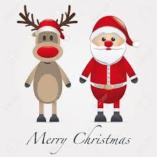 610 rudolph red nose reindeer stock vector illustration