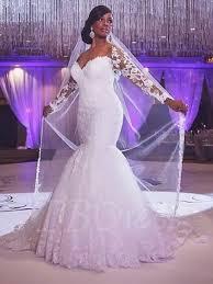 off the shoulder appliques mermaid long sleeve plus size wedding