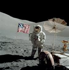 Picture Of Flag On Moon Apollo 17 At The Moon