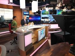 News Studio Desk by Wbtv Charlotte Debuts New Fx Design Group Set
