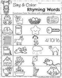 kindergarten worksheets words kindergarten worksheets kindergarten worksheets rhyming