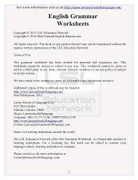 english grammar worksheets free pdf ebook download from larisa