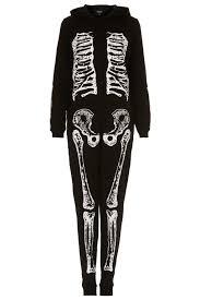 womens skeleton jumpsuit lyst topshop skeleton onesie in black
