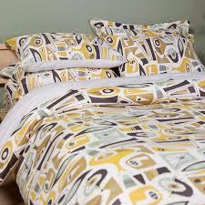 atomic dreams duvet cover modern bedding sin in linen