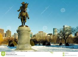 boston public garden in the winter royalty free stock images