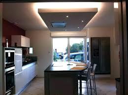 faux plafond cuisine spot spot led pour faux plafond mix of led light and pot lights installed