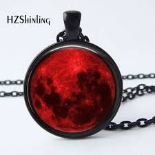 gothic moon necklace images 2017 new arrival blood moon pendant necklace nebula astrology jpg