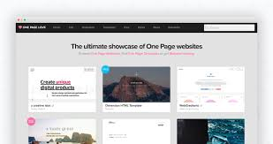 one page love is a one page website design gallery showcasing the