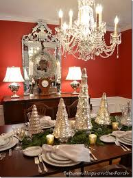 pottery barn christmas table decorations mercury glass christmas tree table setting tablescape