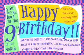 Birthday Day Cards Numerology Reading Free Birthday Card 9 Worldnumerology Com