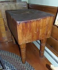 antique butcher block table from deerfield street market