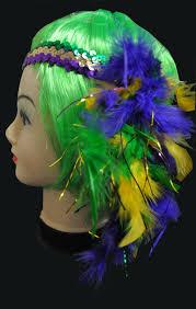 mardi gras headbands sequin mardi gras headband with flower accent 1