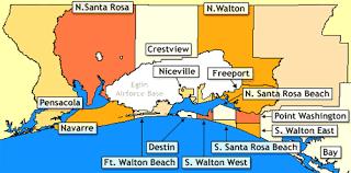 destin map destin florida location map