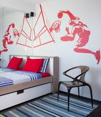 sports murals for bedrooms basketball player wall mural idea for sports boys bedroom
