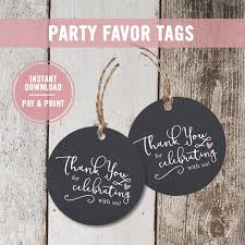 bridal shower favor tags printable chalkboard thank you tags