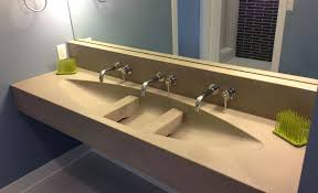 how to build a concrete sink concrete vanity concrete bathroom sinks diy concrete vanity