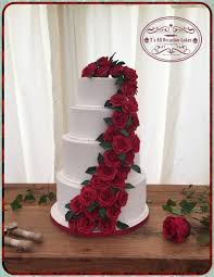 red rose drape wedding cake cake by teraza t u0027s all occasion