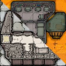 compact u0026 worn starship deck plan 6x6 tiles inked adventures