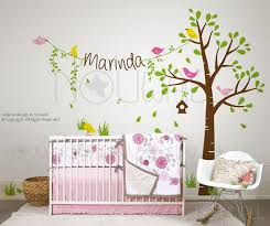 Wall Tree Decals For Nursery Tree Wall Decals For Nursery Minimalist Bedroom Area With White