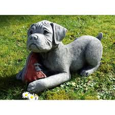 boxer dog statue boxer puppy garden ornament onefold uk