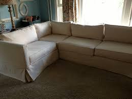 How To Make A Slipcover For A Sleeper Sofa Linen Slipcovered Sectional Sofa Www Energywarden Net