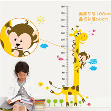 compare prices on chart stickers online shopping buy low price home decor cartoon giraffe height ruler decals new kids height 180cm chart wall sticker wall art
