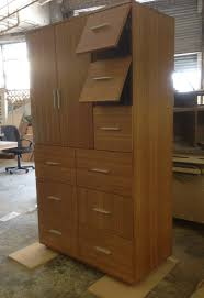 Bedroom Armoires Custom Armoire With 9 Drawers Made Of Bamboo Ply With Alternating