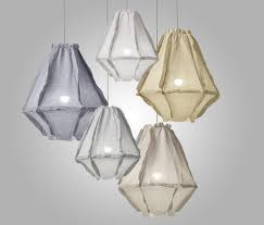 Linen Pendant Light Enoki Cumulus Pendant Lights Linen 66cm Dia X 78cm H Enoki