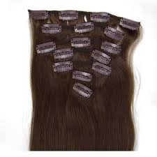 Human Hair Extensions With Clips by 20 Inch Sassy Straight Clip In Human Hair Extensions 4 Chocolate