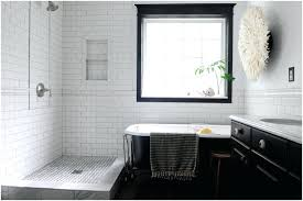 white vintage bathroom design with large crystal chandelier and