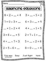 first grade math unit 8 equation worksheets and math sheets