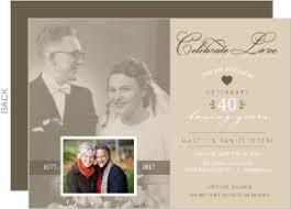 40th anniversary invitations blue formal trifold wedding anniversary invitation 4029 40th