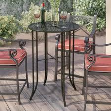 Patio Table Bar Height Bar Height Patio Tables You Ll Wayfair