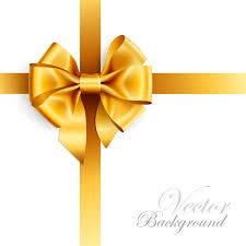 ribbon bow golden ribbon bow vector