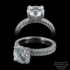 platinum pave rings images Michael b jewelry platinum double row flat band engagement ring jpg