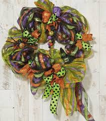 Black Halloween Wreath Halloween Deco Mesh Wreath Halloween Decor Joann