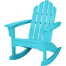 Rocking Chair Outdoor Furniture All Weather Adirondack Rocking Chair In Aruba Blue Hvlnr10ar