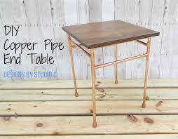 How To Make A Wood End Table by Any Easy To Build Table With A Metal Base U2013 Designs By Studio C
