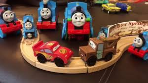 toy cars thomas friends the great race with lightning mcqueen mater hot wheels familytoyreview you
