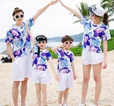 matching sets wholesale family matching sets summer suits men girl boy
