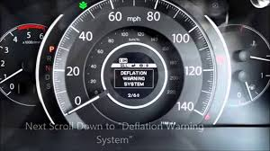 honda crv warning lights how to turn off reset a tyre pressure warning light in a honda cr