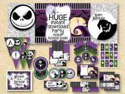 nightmare before christmas party supplies birthday nightmare before christmas party printable party
