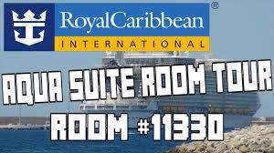royal caribbean harmony of the seas aquatheater suite tour