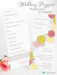 Traditional Wedding Program Non Traditional Wedding Reception Program Ideas